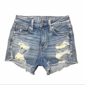 American Eagle Outfitter Hi-Rise Distressed Shorts